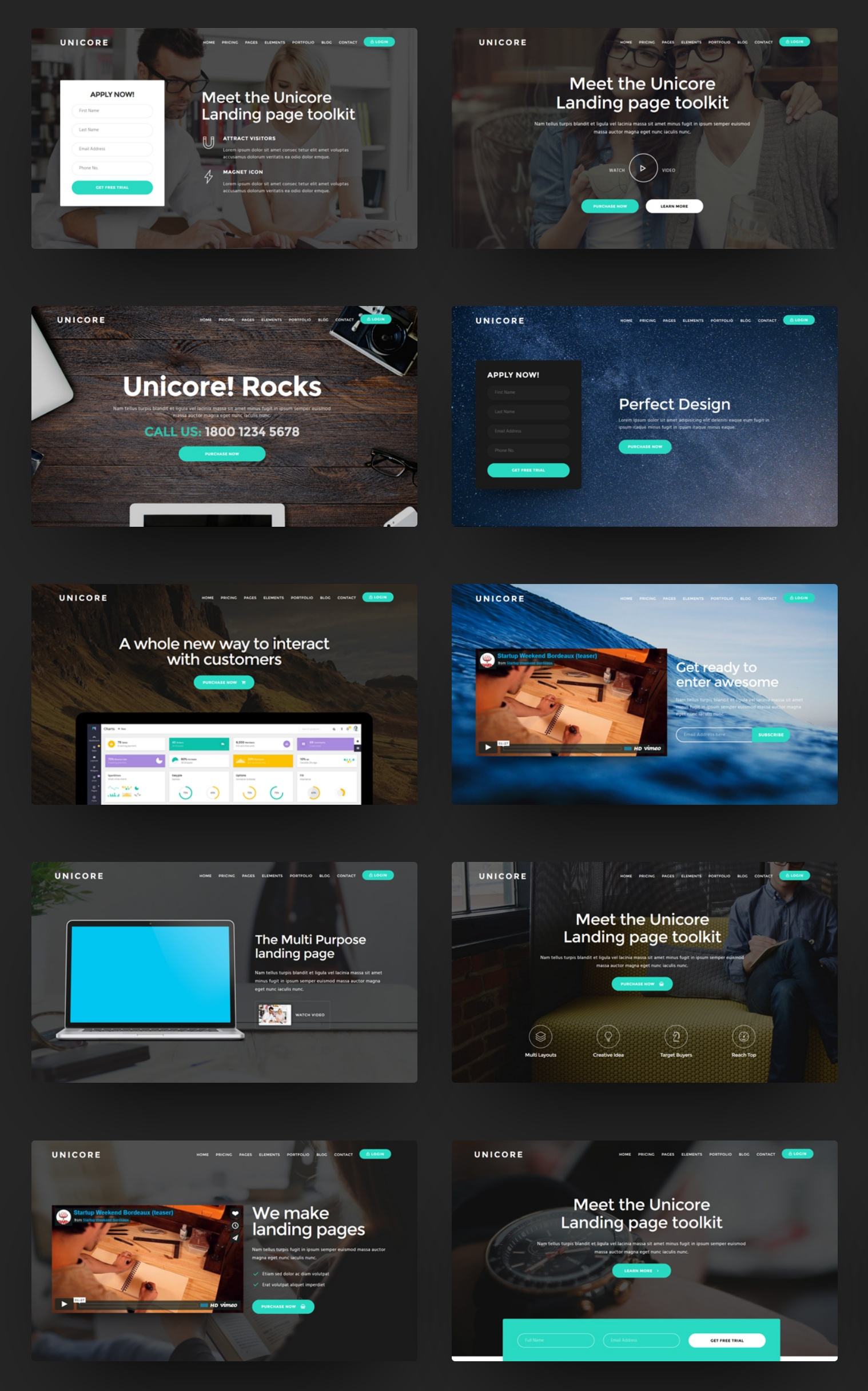 Simple Bootstrap One Page Theme Template