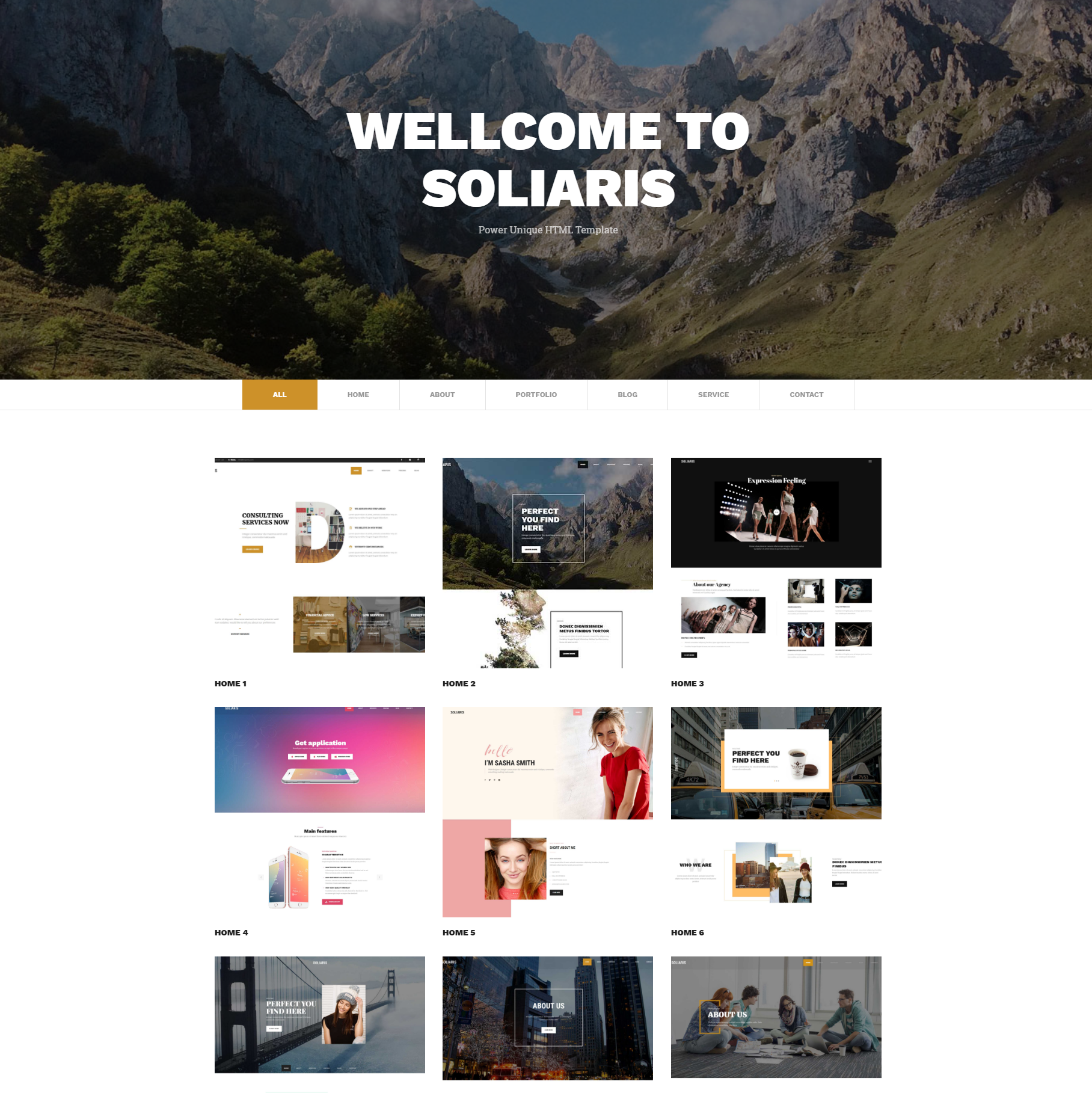 HTML Bootstrap Soliaris Templates