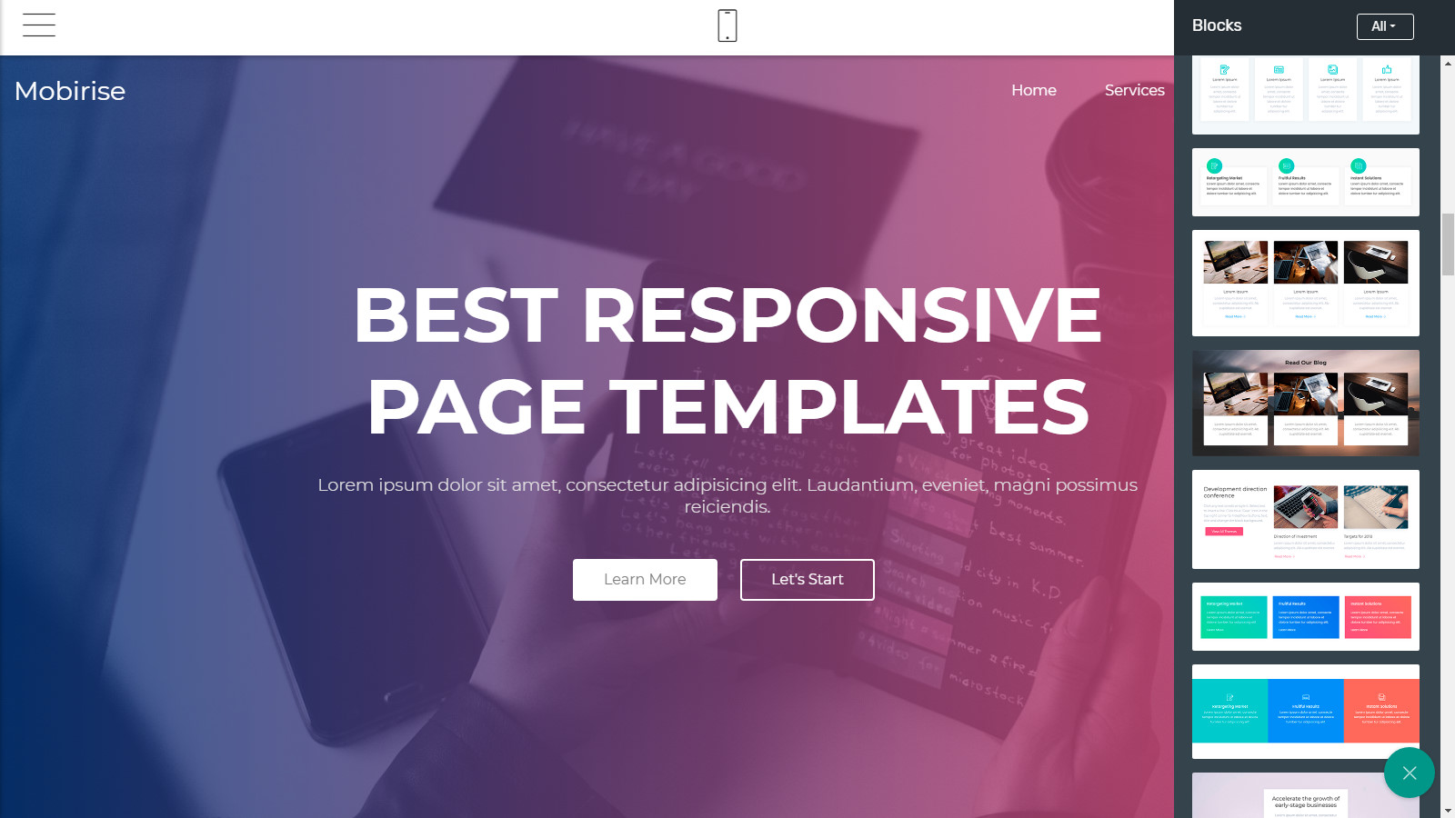 html5 site templates