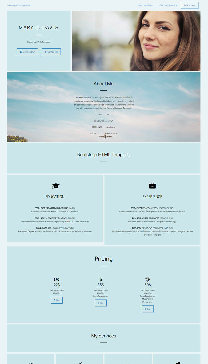 CV Website Template